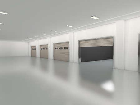 puerta: Nave industrial con persiana prestaci�n puerta 3D