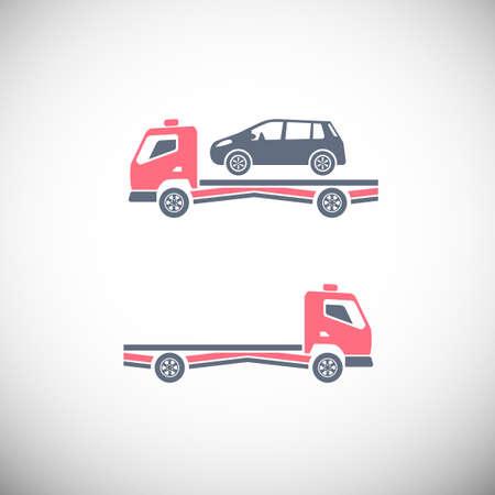 roadside assistance: Roadside assistance car towing truck Illustration