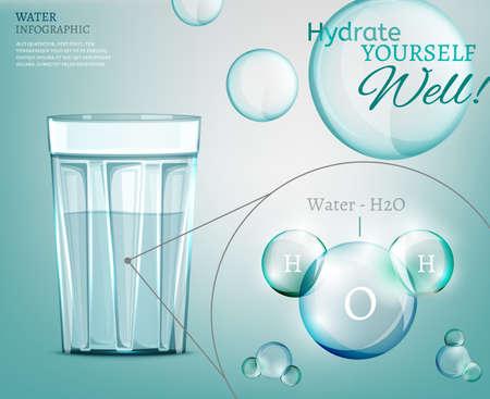 water glass: L'acqua � la forza trainante di tutta la natura Vettoriali