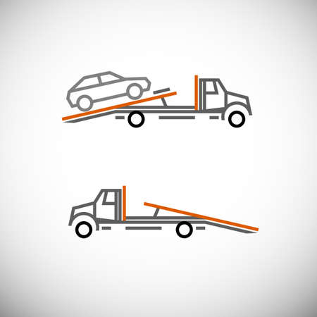 Roadside assistance car towing truck Illustration