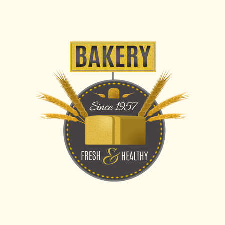 etiqueta: Vector editable illustration of beautiful bakery  Vectores