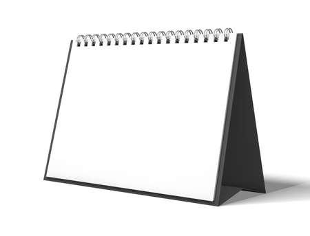 espiral: calendario de escritorio aislado de imagen de procesamiento 3D maqueta