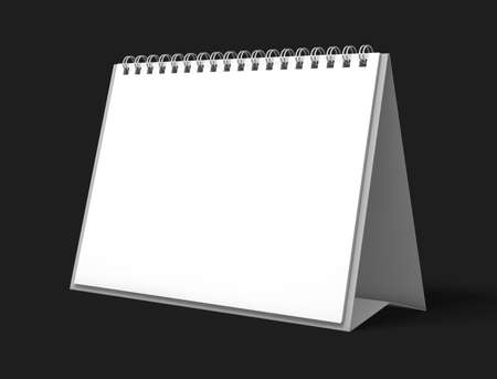 calendar isolated: image desk calendar isolated mockup 3D rendering
