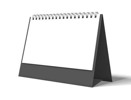 image desk calendar isolated mockup 3D rendering