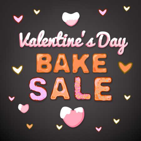 bake: Beautiful vector illustration of winter bake sale