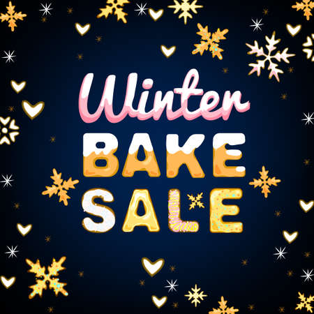 bake sale: Beautiful vector illustration of winter bake sale  Illustration