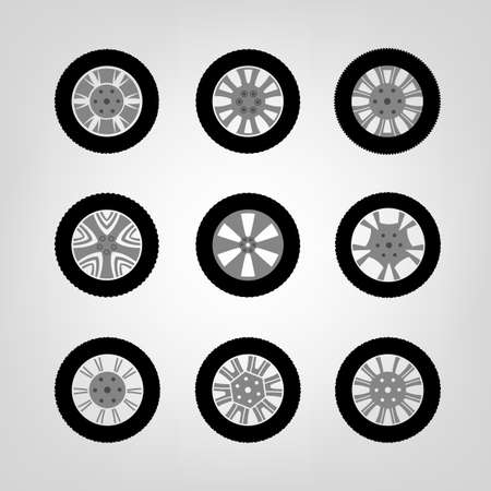 vulcanization: Beautiful vector illustration of car tires images useful for icon