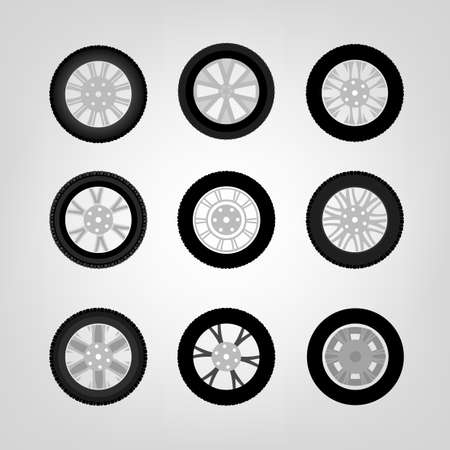 durability: Beautiful vector illustration of car tires images useful for icon