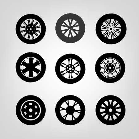 vulcanization: Beautiful vector illustration of car tires images  Illustration