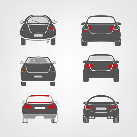 button art: Beautiful vector illustration of car images  Illustration