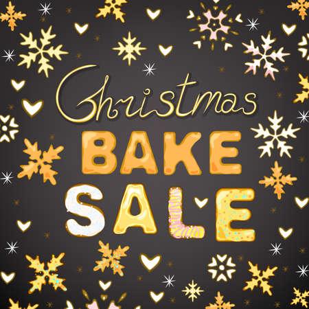 bake sale: Beautiful vector illustration of winter bake sale  Stock Photo