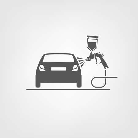 Vector illustration of a car body repair.