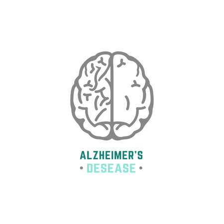 alzheimer: Vector Alzheimer icon in modern style. Illustration