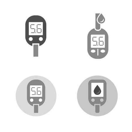 blood sugar: Beautiful vector diabetic set.