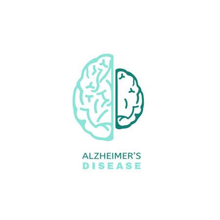 Vector Alzheimer icon in modern style. Illustration