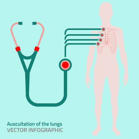 Beautiful illustration of medical infographics. Medicine and healthcare concept. image in red, pink, green and emerald colors useful for poster, postcard, sign, logotype and banner creative design.