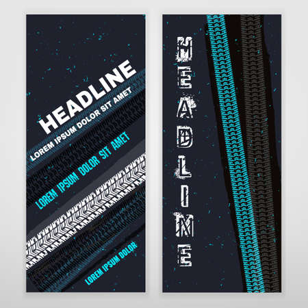 winter colors: Vector automotive banner template. Bright modern backgrounds for poster, print, flyer, book, booklet, brochure and leaflet design. Editable graphic image in white, gray, blue and black winter colors