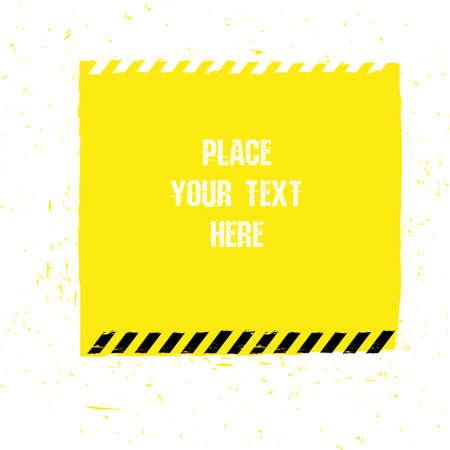 peligro: Ilustración del vector de línea de peligro seguimiento de la plantilla del grunge. Fondo moderno de la impresión del cartel, folleto, libro, folleto, folleto y diseño de folleto. Vectores