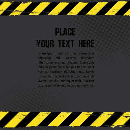 Vector illustration of danger line tracks grunge template. Modern background for poster, print, flyer, book, booklet, brochure and leaflet design.