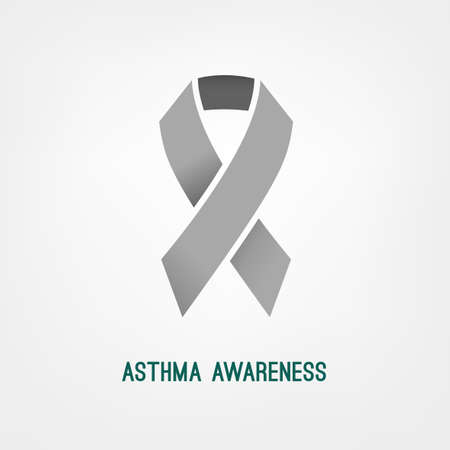 inhalation: Beautiful vector illustration of asthma icon. Abstract medicine concept. Useful symbol for poster, indographics, placard, leaflet, brochure, print, book and ad graphic design.