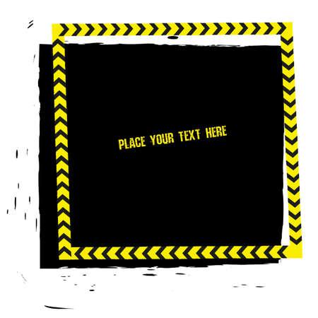 Illustrazione di vettore di linea di pericolo tracce modello grunge. moderno sfondo per poster, stampa, flyer, libro, opuscolo, brochure e design foglio. immagine modificabile nei colori nero, giallo e bianco.