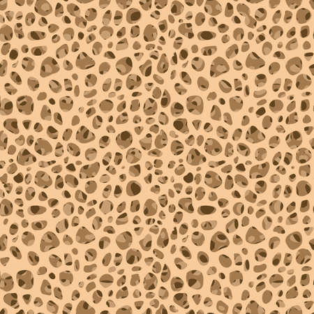 Bone tissue seamless pattern. Editable illustration. Abstract background in light beige color.