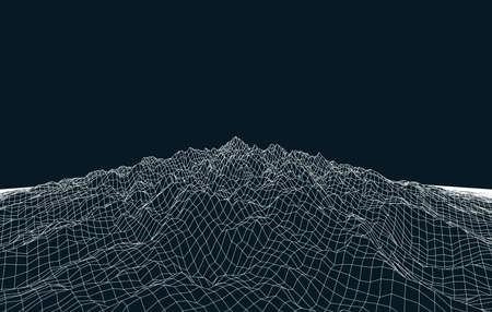 白い抽象低ポリ、多角形長方形風景 web、プレゼンテーション、ポスター、プリントの暗い青の背景に。