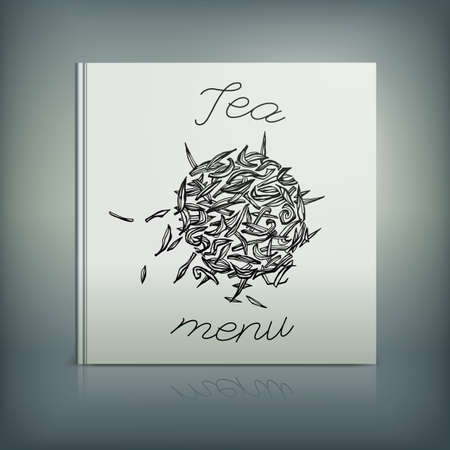 beautiful eating: Beautiful Menu concept for an eating house, restaurant, coffee-room, tea-house, tea-room, tea-shop, cafe or roastery. Editable vector illustration based on a hand drawn elements.