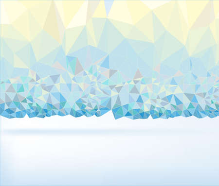 polyhedral: Abstract polygonal perl colour background. Geometric backdrop in Origami style. Beautiful vector illustration made from triangular shapes.