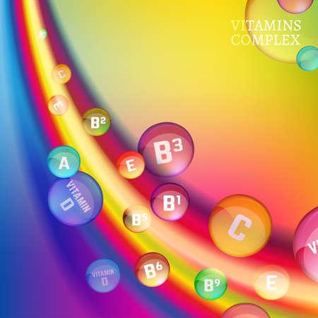 Vitamin complex image Illustration