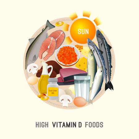 Vitamin D in Food 向量圖像