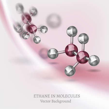 Ethane Molecules Background