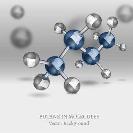 butane: Butane Molecules Background