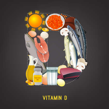 Vitamin D in Food 일러스트