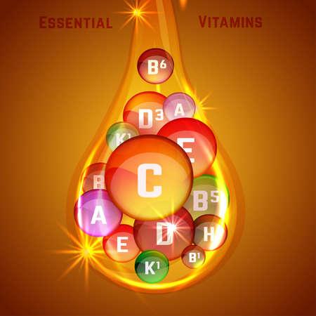 Vitamin Complex Image Stock Photo