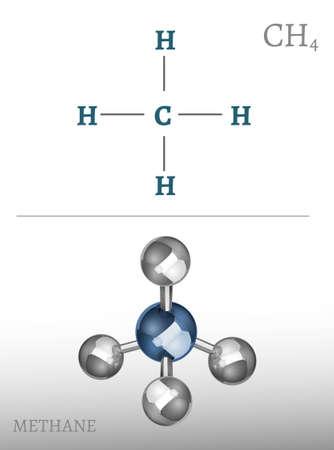 hydride: Methane Molecule Image