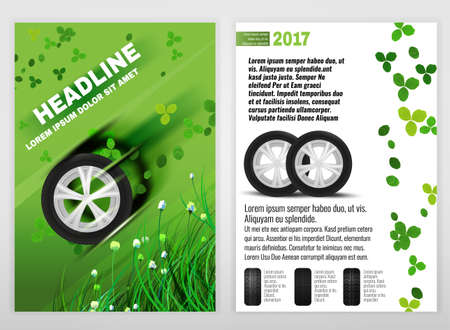 tire cover: Ecological Tyre Brochure Illustration