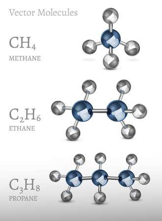 Propane Ethane Methane Banco de Imagens - 75652867