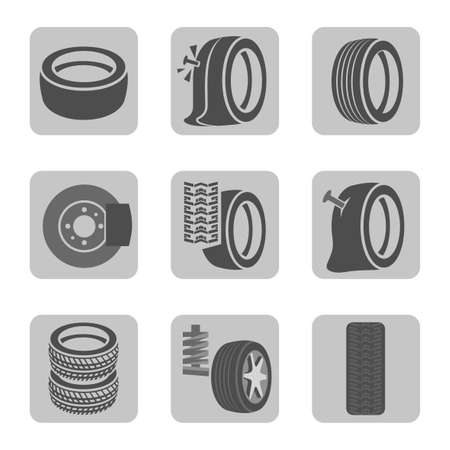tire cover: Tire shop icons