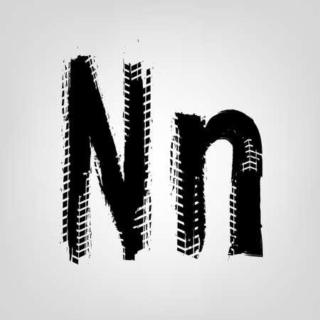 Grunge Tire Letter Vetores