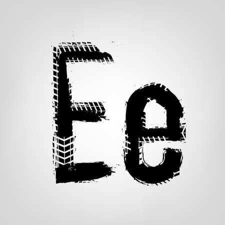 Grunge Tire Letter