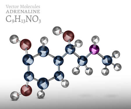 Adrenaline Molecule Image Stock Photo