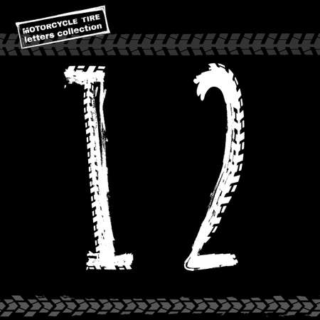 numbers background: Motorcycle Tire Font Figures-01 Illustration