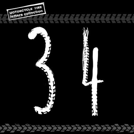 tread: Motorcycle Tire Font Figures-02