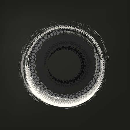 Tire Track frame Vektoros illusztráció