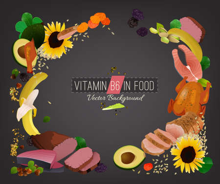 Vitamine B6 achtergrond