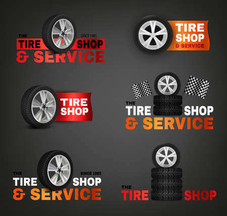 rim: Tire Shop Logo