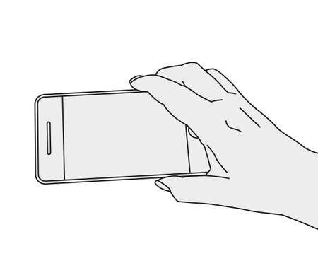 Hand Shooting Phone Banco de Imagens - 83436860