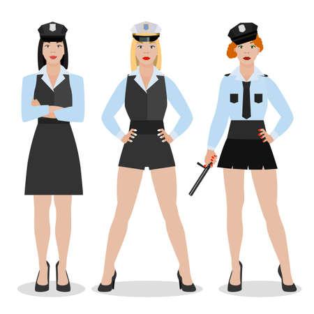 Police Girl Image Illustration