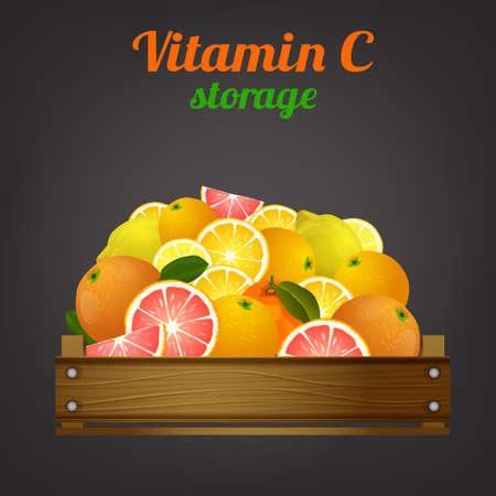 Fruit Crate Image Illustration
